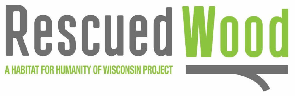 Logo for Rescued wood project for Habitat For Humanity
